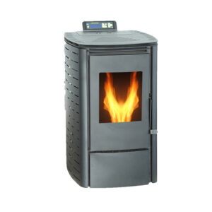 SR-A6 portable mini wood pellet stove black text