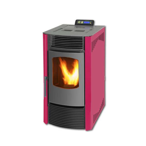 SR-A9-china-wood-pellet-stove-9KW-red-1
